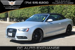 2013 Audi A5 Premium Plus Carfax 1-Owner - No AccidentsDamage Reported  Cuvee Silver Metallic
