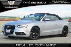 2013 Audi A5 Quattro Premium Plus Carfax 1-Owner - No AccidentsDamage Reported  Cuvee Silver M
