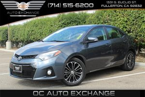 2014 Toyota Corolla S Carfax 1-Owner - No AccidentsDamage Reported  Gray  Gobble up extra sav