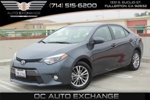 2015 Toyota Corolla LE Carfax 1-Owner - No AccidentsDamage Reported  Gray  Gobble up extra sa