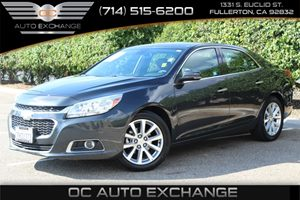 2015 Chevrolet Malibu LTZ Carfax 1-Owner  Black Granite Metallic          25102 Per Month -