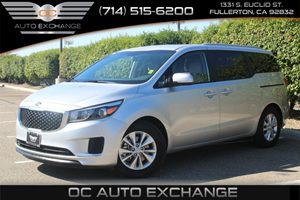 2015 Kia Sedona LX Carfax 1-Owner - No AccidentsDamage Reported  Bright Silver  Gobble up ext