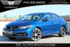 2013 Honda Civic Sdn Si Carfax 1-Owner  Dyno Blue Pearl          22504 Per Month - On Approv
