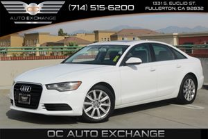 2014 Audi A6 20T Premium Plus Carfax 1-Owner - No AccidentsDamage Reported  Glacier White Met