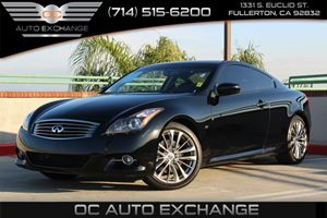 2014 Infiniti Q60 Coupe Journey Carfax 1-Owner  Black Obsidian          32849 Per Month - On