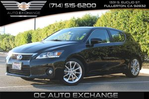 2013 Lexus CT 200h Hybrid Carfax 1-Owner  Black  YouGre going to need a bigger stocking The