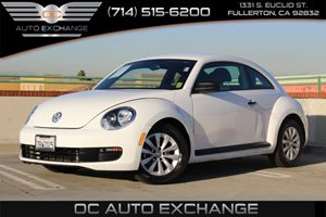 2016 Volkswagen Beetle Coupe 18T Fleet Edition Carfax 1-Owner  Pure White          19906 Pe