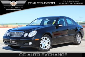 2003 MERCEDES E-Class Sedan Carfax 1-Owner - No AccidentsDamage Reported  Black  Gobble up ex