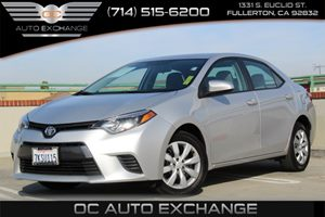 2016 Toyota Corolla LE Carfax 1-Owner - No AccidentsDamage Reported  Classic Silver Metallic