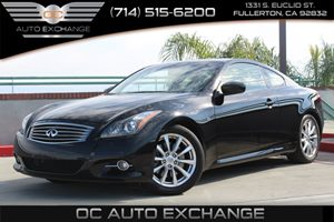 2014 Infiniti Q60 Coupe Journey Carfax 1-Owner - No AccidentsDamage Reported  Black Obsidian