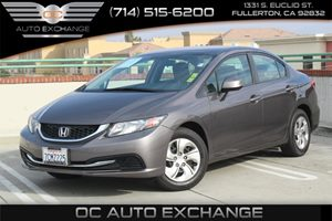 2013 Honda Civic Sdn LX Carfax 1-Owner - No AccidentsDamage Reported  Gray          16008 P