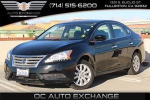 2015 Nissan Sentra SV Carfax 1-Owner - No AccidentsDamage Reported  Super Black          160