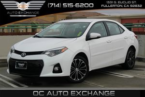 2015 Toyota Corolla Sport Carfax 1-Owner - No AccidentsDamage Reported  Super White 2015 TOYO