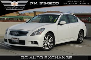 2012 Infiniti G37 Sedan Sport Carfax 1-Owner - No AccidentsDamage Reported  Moonlight White