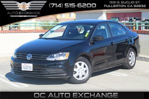 2016 Volkswagen Jetta Sedan 14T S Carfax 1-Owner - No AccidentsDamage Reported  Black Uni