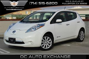 2013 Nissan LEAF S Carfax 1-Owner - No AccidentsDamage Reported  Glacier White          116