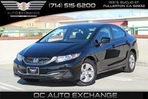 2015 Honda Civic Sedan LX Carfax 1-Owner - No AccidentsDamage Reported  Crystal Black Pearl