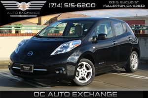 2012 Nissan LEAF SL Carfax 1-Owner - No AccidentsDamage Reported  Super Black  We are not res