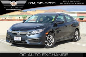 2016 Honda Civic Sedan LX Carfax 1-Owner - No AccidentsDamage Reported  Gray  We are not resp