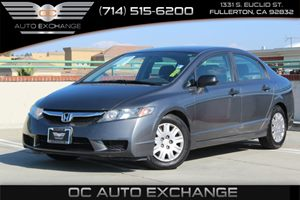 2010 Honda Civic Sdn DX-VP Carfax Report - No AccidentsDamage Reported  Black 8499 We are no