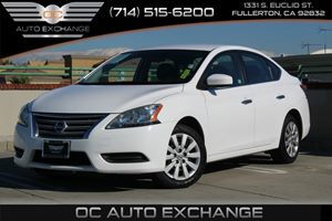 2015 Nissan Sentra SV Carfax 1-Owner  Aspen White          15893 Per Month - On Approved Cre