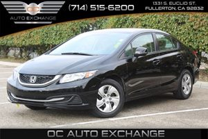 2013 Honda Civic Sdn LX Carfax 1-Owner  Crystal Black Pearl  We are not responsible for typogr