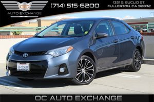 2014 Toyota Corolla S Carfax 1-Owner - No AccidentsDamage Reported  Gray          19256 Per