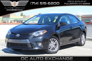 2015 Toyota Corolla LE Carfax 1-Owner  Black Sand Mica          17307 Per Month - On Approve