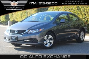 2013 Honda Civic Sdn LX Carfax 1-Owner  Gray          17307 Per Month - On Approved Credit