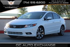 2012 Honda Civic Sdn Si Carfax Report  Taffeta White  We are not responsible for typographical