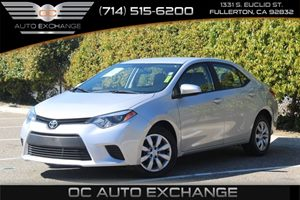 2014 Toyota Corolla LE Carfax 1-Owner  Classic Silver Metallic          16595 Per Month - On