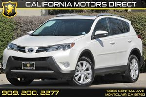 2014 Toyota RAV4 Limited Carfax 1-Owner Audio  Satellite Radio Body-Colored Front Bumper WBlac