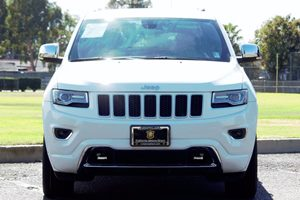 2015 Jeep Grand Cherokee Overland Carfax 1-Owner - No AccidentsDamage Reported  Bright White C