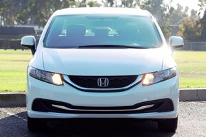 2013 Honda Civic Sdn LX Carfax 1-Owner  Taffeta White  We are not responsible for typographica
