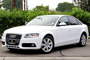 2011 Audi A4 20T Premium Carfax Report 17 7-Spoke Alloy Wheels Air Conditioning  AC Air Co