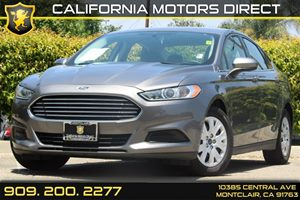 2013 Ford Fusion S Carfax 1-Owner  Sterling Gray 16174 Per Month - On Approved Credit---