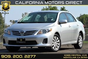 2013 Toyota Corolla LE Carfax 1-Owner Air Conditioning  AC Audio  AmFm Stereo Audio  Auxil