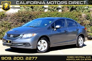 2013 Honda Civic Sdn LX Carfax 1-Owner - No Accidents  Damage Reported to CARFAX Air Conditionin