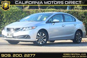 2014 Honda Civic Sedan EX Carfax 1-Owner  Alabaster Silver Metallic  Department of Motor Vehic