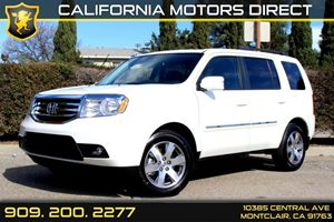 2015 Honda Pilot Touring Carfax Report - No Accidents  Damage Reported to CARFAX  White Diamon