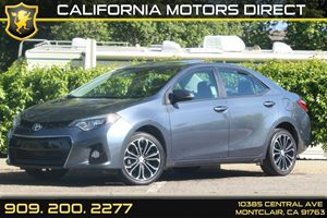 2014 Toyota Corolla S Carfax 1-Owner Air Conditioning  AC Audio  AmFm Stereo Audio  Auxili