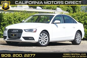 2013 Audi A4 Premium Carfax 1-Owner Engine Type  4 Cylinder Engine Horsepower  211 Hp  4300 R