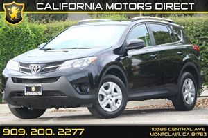 2014 Toyota RAV4 LE Carfax 1-Owner  Black  Department of Motor Vehicle GDMVG License fee
