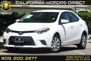 2015 Toyota Corolla LE Carfax 1-Owner 4 Cylinders Convenience  Automatic Headlights Convenienc