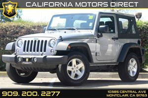 2015 Jeep Wrangler Sport Carfax 1-Owner - No Accidents  Damage Reported to CARFAX  Billet Silv