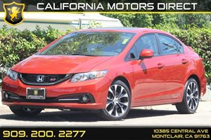 2013 Honda Civic Sdn Si Carfax 1-Owner  Rallye Red  Department of Motor Vehicle GDMVG Li
