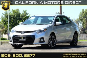 2015 Toyota Corolla S Carfax 1-Owner 5 Person Seating Capacity Air Conditioning  AC Audio  A