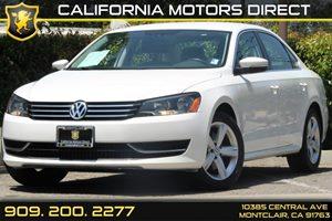 2012 Volkswagen Passat SE Carfax 1-Owner  Candy White  Department of Motor Vehicle GDMVG