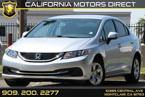 2013 Honda Civic Sdn LX Carfax 1-Owner  Alabaster Silver Metallic 17697 Per Month - On Appro