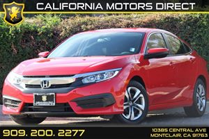 2016 Honda Civic Sedan LX Carfax 1-Owner - No Accidents  Damage Reported to CARFAX  Rallye Red